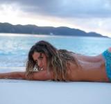 Anastasia Electra Ashley California surf Hawaii board Triple Crown Rookie Surfing championship Women Sports Illustrated Swimsuit Gypsy Jet Set jewelry  (4)